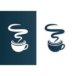 coffee cup logo business - isolated vector image vector image