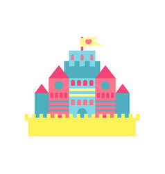 colorful princess castle cartoon vector image