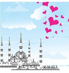 I love istanbul design vector