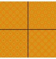 set of star polka dot patterns vector image vector image