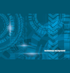 technocal blue background vector image vector image