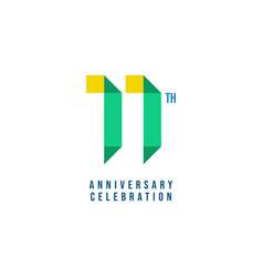 11 th anniversary celebration template design vector
