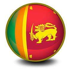 A ball with the flag of SriLanka vector image