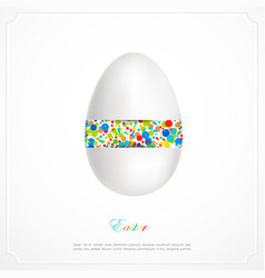 Abstarct easter egg vector