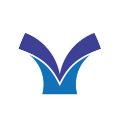abstract book logo vector image