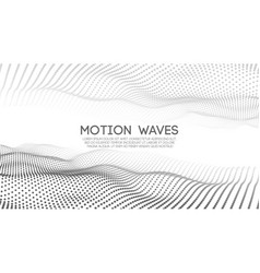 Abstract digital wave white background vector