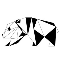 Abstract low poly panda icon vector
