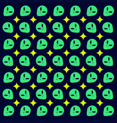 Alien pattern design vector