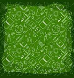 back to school seamless pattern vector image