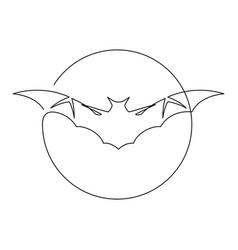 bat continuous line art vector image