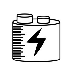 battery charging power outline vector image