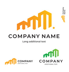 Business building construction modern logo bright vector