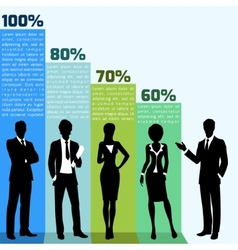 Business people infogrpahics vector