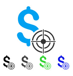 Business target flat icon vector