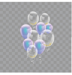 celebration banner with purple balloons vector image