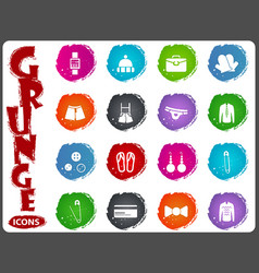 Clothes icon set vector