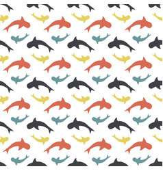 color pattern with sharks vector image