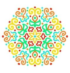 Colorful Hexagon Ornament vector