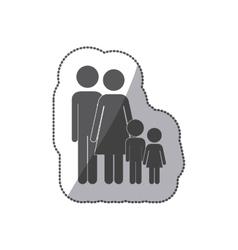 Cute family pictogram vector