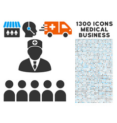 doctor class icon with 1300 medical business icons vector image