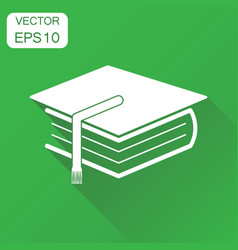 education book icon business concept book vector image