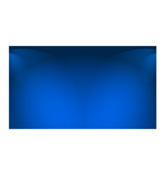 empty blue abstract mock up 3d stage studio vector image