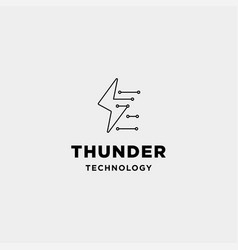 Flash connection logo design technology internet vector