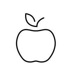 flat line apple icon vector image