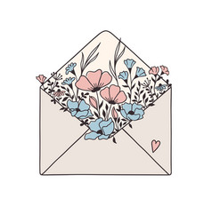Floral mail vector