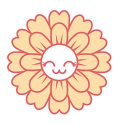 flower kawaii cartoon cute petals vector image