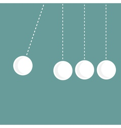 Four hanging round balls Perpetual motion vector