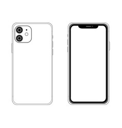 Front and back side phone 11 vector