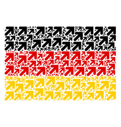 Germany flag collage of arrow up right items vector
