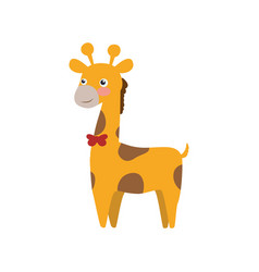 giraffe cartoon animal childish vector image