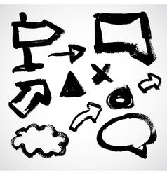grunge sketch arrows and frames vector image
