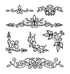 Hand drawn decoration elements frames page vector image
