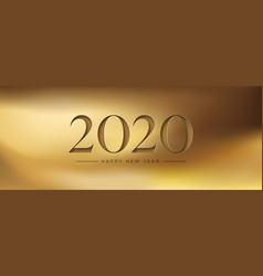 happy new year 2020 gold papercut web banner vector image