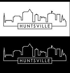 huntsville skyline linear style editable file vector image
