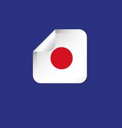 Japan label flags template design vector