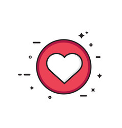 like icon social network app icon vector image