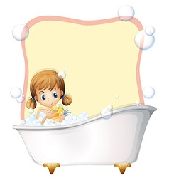 Little girl taking a bath vector