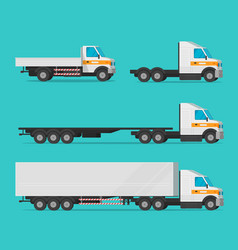 Lorry or cargo truck and delivery automobiles vector
