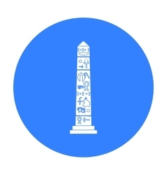 Luxor obelisk icon in black style isolated on vector