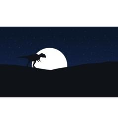 Mapusaurus at night scenery vector
