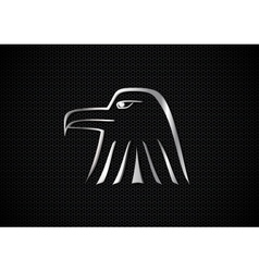 Metallic eagle symbol vector
