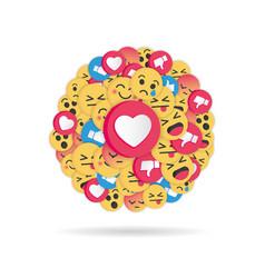 modern emoji design on white background vector image