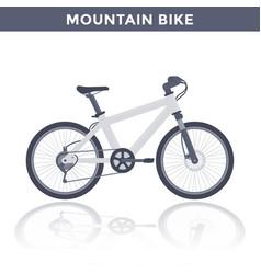 Mountain bike on white vector
