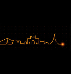 Mumbai light streak skyline vector