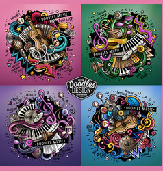 Music cartoon doodle vector