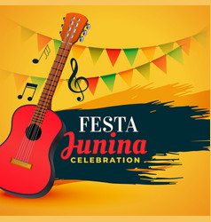music celebration festa junina background vector image